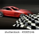 race and chequered flag | Shutterstock . vector #45305146