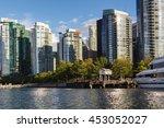 coal harbour  public park and...   Shutterstock . vector #453052027