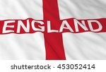 english flag with england text... | Shutterstock . vector #453052414