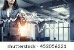woman using modern technologies ... | Shutterstock . vector #453056221