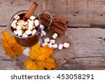 homemade hot chocolate with...   Shutterstock . vector #453058291