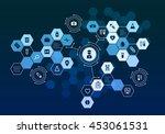 nanotechnology medicine concept ... | Shutterstock . vector #453061531
