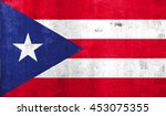 puerto rico country flag with...   Shutterstock . vector #453075355