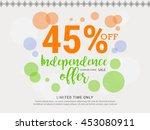 vector illustration sale banner ... | Shutterstock .eps vector #453080911