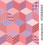 patchwork in pink and lilac... | Shutterstock .eps vector #453083065