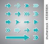 arrow set vector | Shutterstock .eps vector #453085804