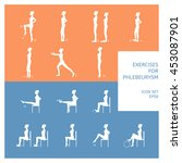 a set of exercises for patients ... | Shutterstock .eps vector #453087901