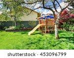 view of kids playground in... | Shutterstock . vector #453096799