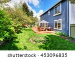 wooden walkout deck in the... | Shutterstock . vector #453096835