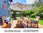 Wooden Walkout Deck In The...