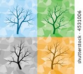 four silhouette of trees on... | Shutterstock .eps vector #4531006
