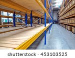 empty rack at logistics... | Shutterstock . vector #453103525