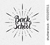back to school vector... | Shutterstock .eps vector #453105511