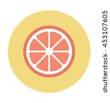 lemon slice vector icon | Shutterstock .eps vector #453107605