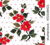 seamless floral pattern... | Shutterstock . vector #453108421