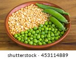 Yellow And Green Peas In A Bow...