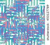 basket weave botanical pattern... | Shutterstock .eps vector #453127789