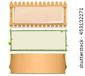 vector boards set 5 | Shutterstock .eps vector #453132271
