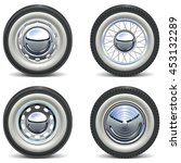 vector retro car wheels | Shutterstock .eps vector #453132289