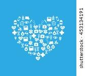 healthcare medical health... | Shutterstock .eps vector #453134191
