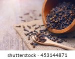 Dried Cloves On Wooden Spoon...