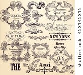 antique collection of vector... | Shutterstock .eps vector #453145315