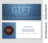 gift voucher. vector ... | Shutterstock .eps vector #453149695