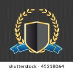 shield with ribbons and laurels | Shutterstock .eps vector #45318064