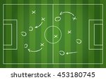 football strategy signs vector... | Shutterstock .eps vector #453180745