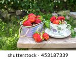 Sweet Fresh Strawberries In Th...