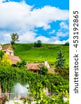 Small photo of View of Riquewihr village, Alsace, France