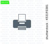 printer web icon | Shutterstock .eps vector #453193381