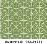 knitted seamless pattern lime | Shutterstock .eps vector #453196855