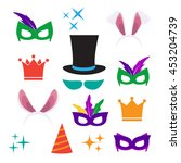 party birthday photo booth... | Shutterstock . vector #453204739