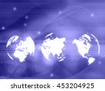 world map technology style for