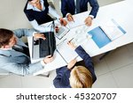 image of company of successful... | Shutterstock . vector #45320707