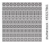 traditional ornamental borders... | Shutterstock .eps vector #453217861