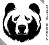 black and white ink draw bear... | Shutterstock .eps vector #453218185