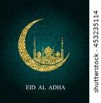 eid al adha greeting card. eid...   Shutterstock . vector #453235114