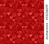 seamless pattern with hearts.  | Shutterstock .eps vector #453236059