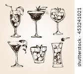 cocktail set. elements for the... | Shutterstock .eps vector #453241021