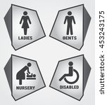 modern toilet set icon with... | Shutterstock .eps vector #453243175