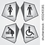 modern toilet set icon with... | Shutterstock .eps vector #453243181