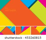 vector abstract background with ... | Shutterstock .eps vector #453260815