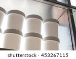 shelves in coffee and bakery... | Shutterstock . vector #453267115