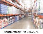 blurred image of shelf in...   Shutterstock . vector #453269071