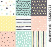set of abstract seamless... | Shutterstock .eps vector #453280735