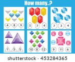 counting educational children... | Shutterstock . vector #453284365