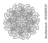 round element for coloring book.... | Shutterstock . vector #453285919