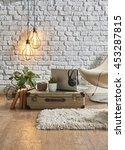 vintage winter with modern... | Shutterstock . vector #453287815